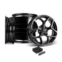 Mustang Race Star 95 Recluse Wheel Kit - 17x4.5/15x10  - Black Chrome (15-18)