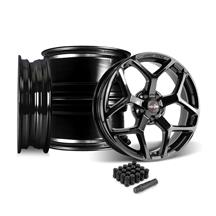 Mustang Race Star 95 Recluse Wheel Kit - 18x5/17x10.5  - Black Chrome (05-14)