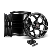 Mustang Race Star 95 Recluse Wheel Kit - 17x4.5/10.5  - Black Chrome (05-14)