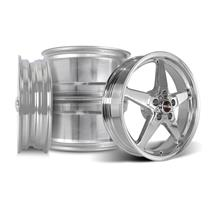 Mustang Race Star Drag Star Wheel Kit - 18x5/17x9.5  - Polished - Direct Drill (05-14)