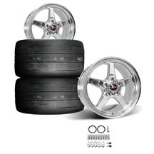 Mustang Race Star Drag Star Rear Wheel & Tire Kit - 17x10.5  - Polished - MT Street R Tires (05-...