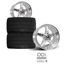 Mustang Race Star Rear Drag Star Wheel & Tire Kit  - Polished - MT ET Street S/S Tires (05-14)