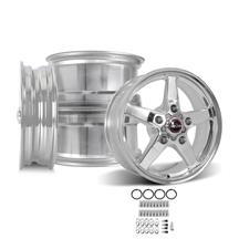 F-150 SVT Lightning Race Star Drag Star Wheel Kit - 17x7/17x10.5  - Polished - Direct Drill (93-...