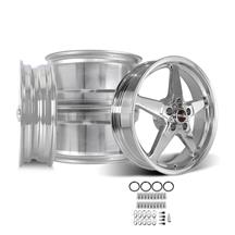 Mustang Race Star Drag Star Wheel Kit 18x5/17x10.5  - Polished (05-14)
