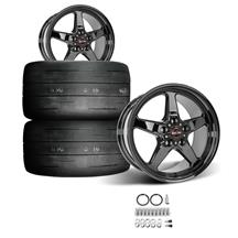 Mustang Race Star Rear Dark Star Wheel & Tire Kit  - MT ET Street R Tires (15-18)