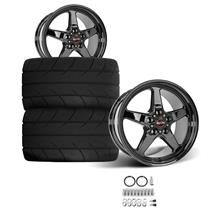Mustang Race Star Rear Dark Star Wheel & Tire Kit  - MT ET Street S/S Tires (15-18)