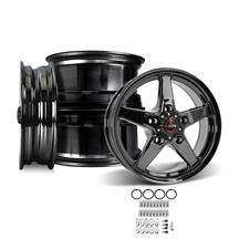 F-150 SVT Lightning Race Star Dark Star Wheel Kit - 17x7/17x10.5  - Direct Drill (93-95)