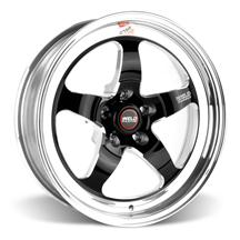 Mustang Weld RT-S S71 Drag Wheel - 17x5 Black w/ Polished Lip (94-16)