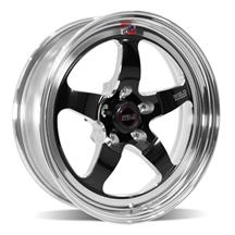 Mustang Weld RT-S S71 Drag Wheel - 17x5 Black w/ Polished Lip (94-19)