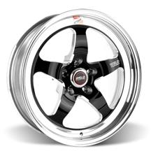 Mustang Weld RT-S S71 Drag Wheel - 17x5 Black w/ Polished Lip (94-17)