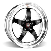Mustang Weld RT-S S71 Drag Wheel - 18x5 Black w/ Polished Lip (05-16)