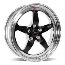 Mustang Weld RT-S S71 Drag Wheel - 18x5  - Black w/ Polished Lip (05-20)
