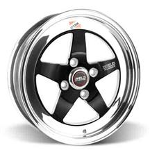 Mustang Weld RT-S S71 Wheel - 15x4 Black w/ Polished Lip (79-93)