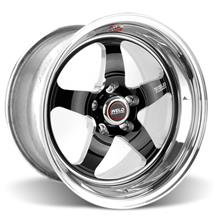 Mustang Weld RT-S S71 Drag Wheel - 17x10 Black w/ Polished Lip (05-17)