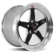 Mustang Weld RT-S S71 Drag Wheel - 17x10 Black w/ Polished Lip (05-20)