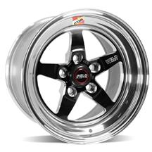 Mustang Weld RT-S S71 Drag Wheel - 15x10 Black w/ Polished Lip (94-04)