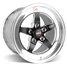 Mustang Weld RT-S S71 Drag Wheel - 15x10 Black w/ Polished Lip (05-14)