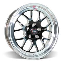Mustang Weld RT-S S77 Wheel - 17x5  - Black w/ Polished Lip (05-17)