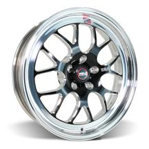 Mustang Weld RT-S S77 Wheel - 18x5  - Black w/ Polished Lip (05-17)