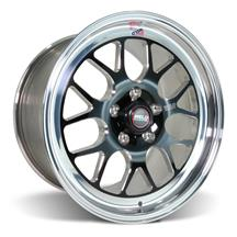 Mustang Weld RT-S S77 Wheel - 17x10  - Black w/ Polished Lip (05-17)