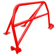Mustang Watson Racing 4 Point Bolt-In Roll Bar  - Red (15-20) Coupe