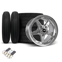Mustang SVE Drag Wheel & Tire Kit 15x3.75/10  - Chrome  (05-10)