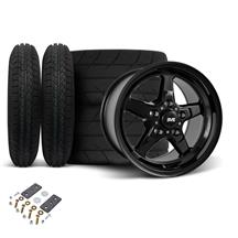Mustang SVE Drag Wheel & Tire Kit 15X10/15X3.75 Gloss Black  (05-10)