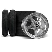Mustang SVE Drag Wheel & Tire Kit 15x3.75/10  - Chrome  (94-04)