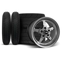 Mustang SVE Drag Wheel & Tire Kit 15x10/15x3.75 Dark Stainless  (94-04)