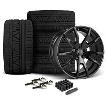 Mustang CDC Outlaw 20X9/10 Wheel & Nitto Invo Tire Kit  Black (15-17)