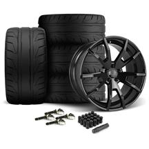 Mustang CDC Outlaw 20X9/10 Wheel & Nitto Nt05 Tire Kit  Black (15-17)
