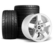 "F-150 SVT Lightning SVE 01-02 Style Wheel & Tire Kit - 18x9.5""  - Silver - NT555 G2 Tires (99-04..."