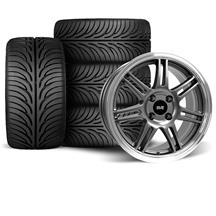 Mustang SVE Anniversary Wheel & Tire Kit - 17x9 Anthracite (79-93)