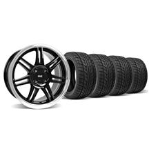 Mustang Anniversary Wheel & Tire Kit - 17x9 Black (79-93)