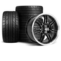 Mustang Anniversary Wheel & Tire Kit - 17x9  - Black - NT555 G2 Tires (79-93)