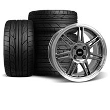 Mustang Anniversary Wheel & Tire Kit - 17x9/10  - Anthracite - NT555 G2 Tires (79-93)