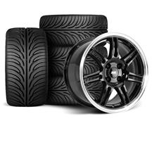 Mustang SVE Anniversary Wheel & Tire Kit - 17x9/10  - Black - Sumitomo ZII (79-93)