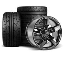 "F-150 SVT Lightning SVE 01-02 Style Wheel & Tire Kit - 18x9.5""  - Gloss Black - NT555 G2 Tires (..."