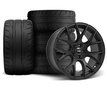 Mustang SVE Drift Wheel & Tire Kit - 19X9.5 Flat Black (05-14)