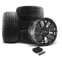 Mustang SVE  Drift Wheel & Tire Kit 19x9.5  - Flat Black - Ohtsu Tires (05-14)