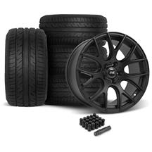 Mustang SVE  Drift Wheel & Tire Kit 19x9.5 - Flat Black  - ATR Sport 2 (05-14)