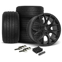 Mustang SVE Drift Wheel & Tire Kit 19x9.5 - Flat Black  - ATR Sport 2 (15-17)