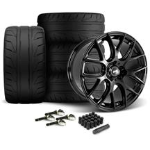 Mustang SVE Drift Wheel & Tire Kit - 19x9.5  - Gloss Black - NT05 Tires (15-17)