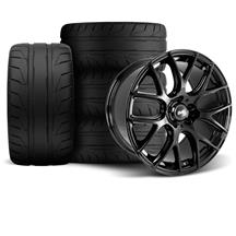 Mustang SVE Drift Wheel & Tire Kit - 19x9.5  - Gloss Black - NT05 (05-14)