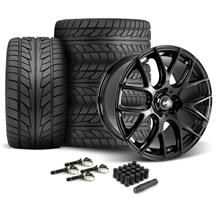 Mustang SVE Drift Wheel & Tire Kit - 19x9.5  - Gloss Black - NT555 Tires (15-18)