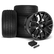 Mustang SVE Drift Wheel & Tire Kit - 19x9.5  - Gloss Black - Achilles Tires (05-14)