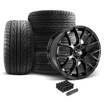 Mustang SVE Drift Wheel & Tire Kit - 19x9.5  - Gloss Black - Ohtsu Tires (05-14)