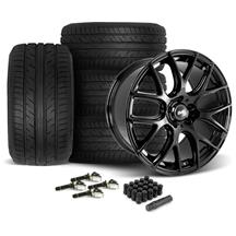 Mustang SVE Drift Wheel & Tire Kit - 19x9.5  - Gloss Black - Achilles Tires (15-17)