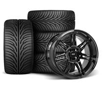 Mustang SVE Anniversary Wheel & Tire Kit - 17x9/10  - Gloss Black - Z II Tires (79-93)