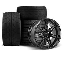Mustang SVE Anniversary Wheel & Tire Kit - 17x9/10  - Gloss Black - NT555R (94-04)